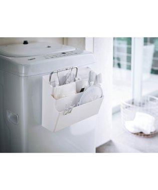 洗濯機横マグネット収納ポケット 3段  プレート ホワイト