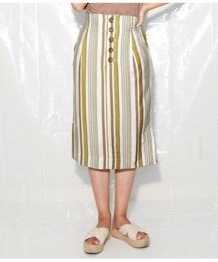 マルチストライププリントタイトスカート