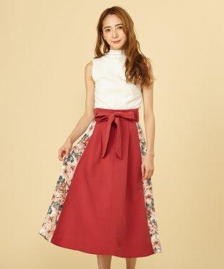 パターンミックスプリーツスカート