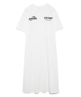 オーバーサイズプリントTシャツワンピース