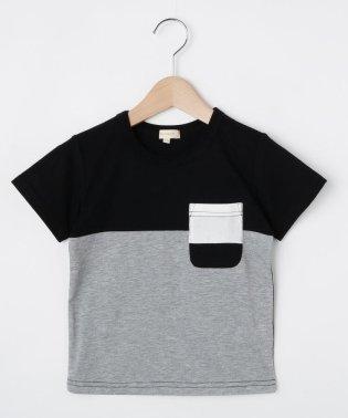 【90-150cm】吸水速乾/カラーブロッキングTシャツ