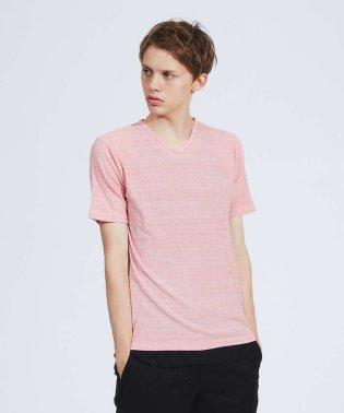 【展開店舗限定】粗杢 ワッフル 半袖 Vネック Tシャツ