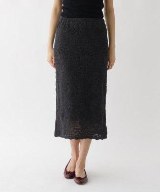 手編み風レースIラインスカート