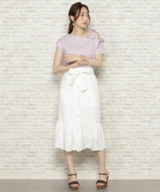 ボーラー刺繍マーメイドスカート