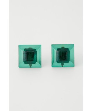 CLEAR BLOCK EARRING