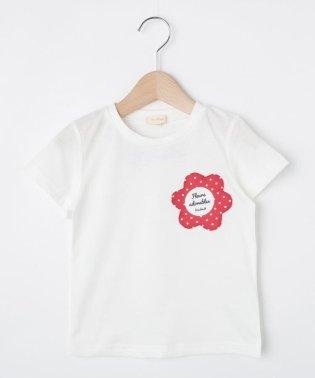 【80-140cm】吸水速乾/お花ポケットTシャツ