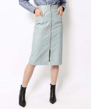 【WEB先行予約】スムースシープレザー フロントジップスカート