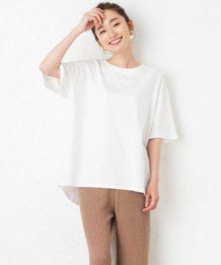 裾ラウンドコットンTシャツ