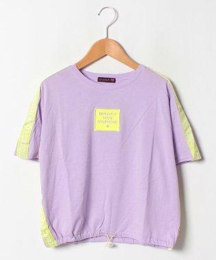 USAコットン 裾しぼりテープロゴTシャツ