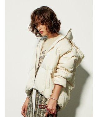 裾リボンショートダウンジャケット