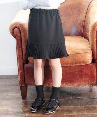 Rora ペイジー 裾プリーツ 膝丈スカート110cm