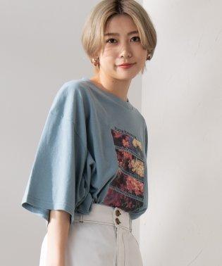 WEGO/フラワーフォトプリントビッグTシャツ