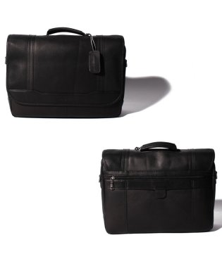 【SAMSONITE】COLOMBIAN LEATHER FLAPOVER BRIEFCASE
