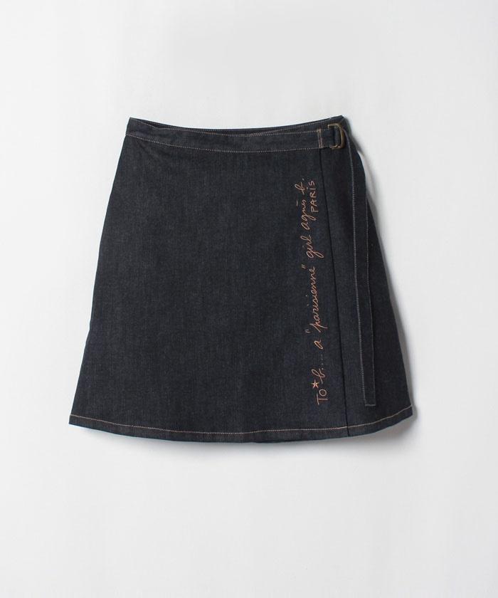 WG51 デニムラップスカート