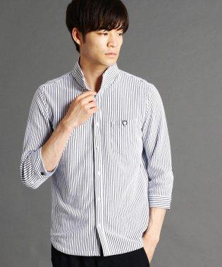 ストライプ柄カットソーシャツ