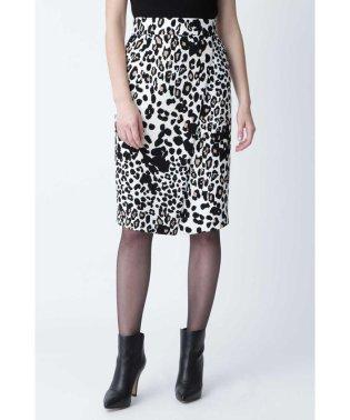 ◆レオパードプリントラップ風スカート