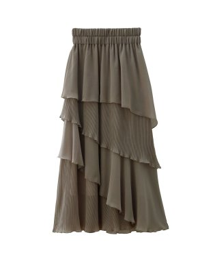 Tiered Pleat Skirt