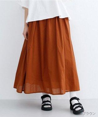 コットンギャザーロングスカート
