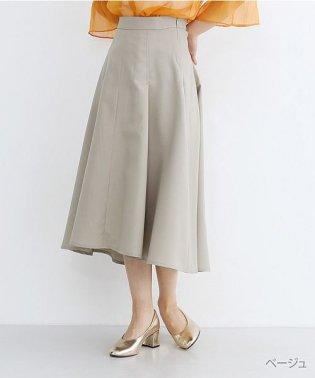 タックボリュームフレアスカート
