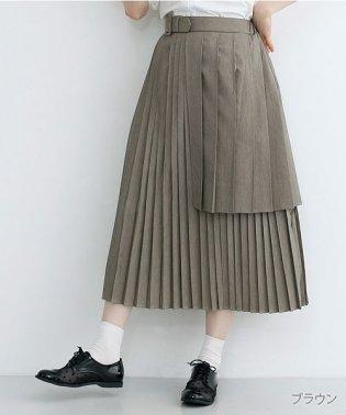 【plus】ティアードプリーツスカート