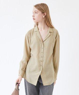 ウエストリボンゆるシャツ/ブラウス