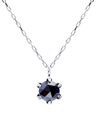 PT ブラックダイヤモンド 0.3ct ローズカット 6本爪 プラチナネックレス
