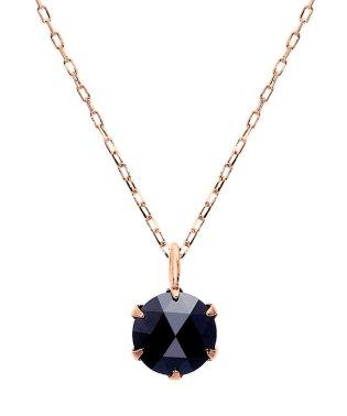 K18PG ブラックダイヤモンド 0.5ct ローズカット 6本爪ネックレス