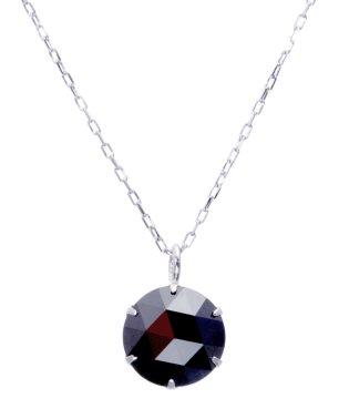 K18WG ブラックダイヤモンド 1ct ローズカット 6本爪ネックレス