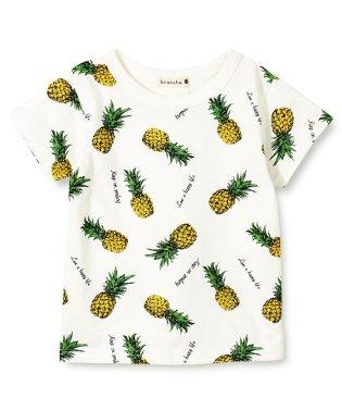 【プチプラ】パイナップル柄半袖Tシャツ(90~150cm)