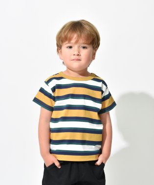 【プチプラ】マルチボーダー半袖Tシャツ(90~150cm)