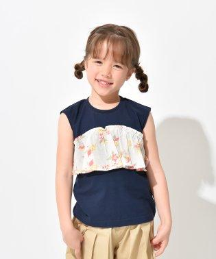 【プチプラ】ビスチェ重ね着風半袖Tシャツ(90~150cm)