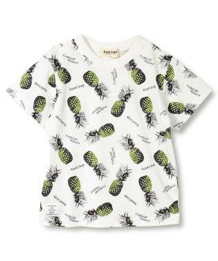 【プチプラ】パイナップル柄半袖Tシャツ(90~140cm)