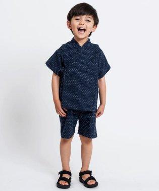 SHIPS KIDS:刺し子 甚平(100~120cm)