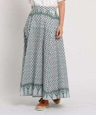 【洗える】ボヘミアンプリント ロングスカート