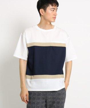 バイカラービッグシルエットTシャツ
