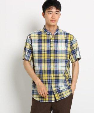 シアサッカーチェックシャツ