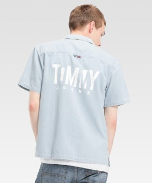バックロゴデニムシャツ