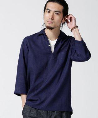 リネンレーヨンスキッパーシャツ7S
