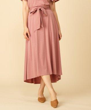 【セットアップ対応商品】ウエストリボンロングスカート