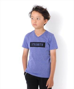 ボックスロゴVネック半袖Tシャツ