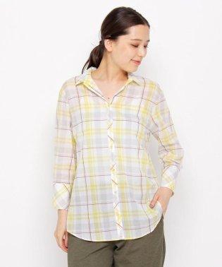【洗える】シャドーチェックシャツ