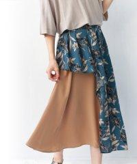 フラワーアシメレイヤードスカート