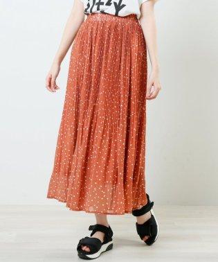 ランダムドットプリーツスカート