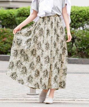 花柄スラブ風ロングスカート