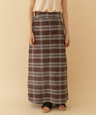 チェックアサAラインスカート