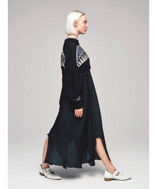 ノルディックリバーシブルニットドレス