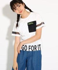 【吸水速乾/コットン100%】ポケ付裾ロゴ Tシャツ