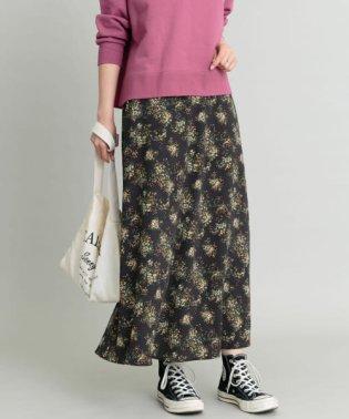 【予約】ミモザ柄マーメイドマキシスカート
