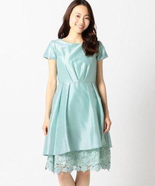 裾レースシャンタンドレス