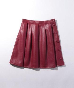 WL42 JUPE フェイクレザースカート